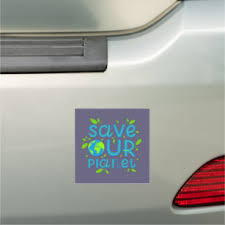 Save Our Planet Car Magnet Zazzle Com