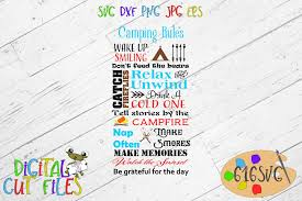 Camping Rules Svg By 616svg Thehungryjpeg Com