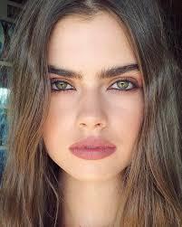 bold brow mauve lip makeup ideas