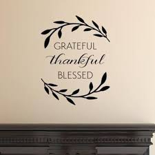 Shop Grateful Thankful Blessed Wall Art Decal Quote Words Lettering Decor Wall Vinyl Overstock 17979643