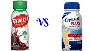 boost vs ensure taste nutrient