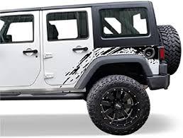 Amazon Com Bubbles Designs Decal Sticker Vinyl Splash Mud Kit Compatible With Jeep Wrangler Jk 2007 2020 Black Automotive