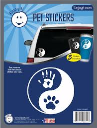 Yin Yang Hand And Paw Car Stickers Pet Car Creemers Enterprise Llc