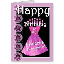 nice pink dress birthday wishes for princess goddaughter e card