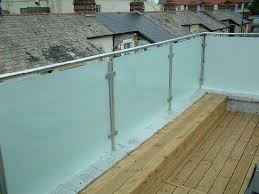 frosted stainless steel glass railing