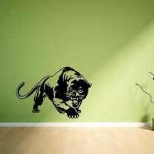 Black Panther Wall Art Sticker Wild Animal Vinyl Room Decal Animal Themed