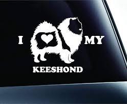 Amazon Com I Love My Keeshond Dog Symbol Decal Paw Print Dog Puppy Pet Family Breed Love Car Truck Sticker Window White Kitchen Dining