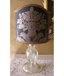 vintage murano glass table lamp with