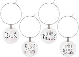 wine glass charms for wedding bridal