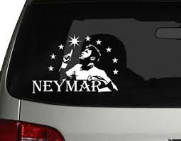 Soccer World Star Brazil Neymar Vinyl Car Decal Sticker 7 W Fc Barcelona Ebay