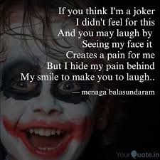 if you think i m a joker quotes writings by menaga
