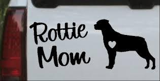Rottie Mom Rottweiler Dog Car Or Truck Window Decal Sticker Or Wall Art Decalsrock