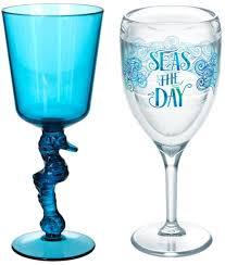 coastal drinking glasses with a splash
