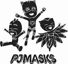 Amazon Com Removable Pj Masks Owlette Catboy And Gekko Wall Decal 20 X 20 Vinyl Adhesive 3d Animation Cartoon Superheroes Kids Bedroom Nursery Decoration Sticker Home Art Decor Black Home
