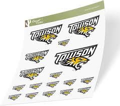 Amazon Com Towson University Tu Tigers Ncaa Sticker Vinyl Decal Laptop Water Bottle Car Scrapbook Sheet Type 3 1 Arts Crafts Sewing