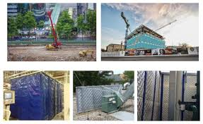 Export Sound Absorbing Blankets Acoustic Barrier Fence