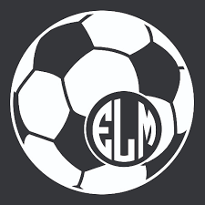 Soccer Ball Monogram Car Decal Soccerballdecal