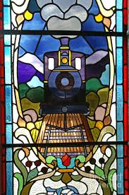 stained glass window in dunedin railway