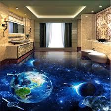 Beibehang Cosmic Wallpaper For Kids Room Galaxy Earth 3d Papel De Paredebathroom Living Room Floor Tiles Self Adhesive Wallpaper Wallpapers Aliexpress