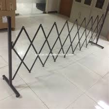 China Telescopic Barrier Steel Galvanized Temporary Barricade Fence China Telescopic Barrier Temporary Barricade