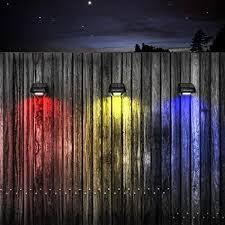 Solar Fence Post Lights Othway Outdoor Waterproof Colorful Decorative Deck Lights Easy Installation Dark Sensing 4 Packs Amazon Com