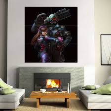 Overwatch D Va And Soldier 76 Block Giant Wall Art Poster