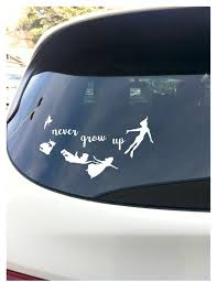Never Grow Up Peter Pan White 7 5 Wide Decal Window Etsy
