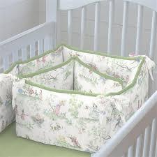 sage green nursery rhyme baby bedding