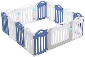 Amazon Com Baby Playpens Children S Activity Center Safety Playground Baby Fence Play Area Baby Door Home Indoor And Outdoor 12 Panel 1 Game Panel 1 Door Home Kitchen