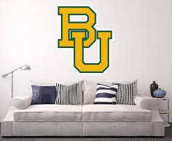 Amazon Com West Mountain Baylor Bears Wall Decal Home Decor Art Ncaa Team Sticker Home Kitchen