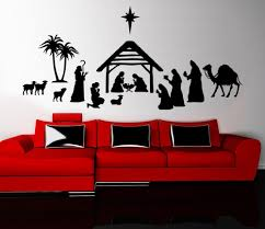 Merry Christmas Nativity Scene Wall Sticker Mural Living Room Home Decor Vinyl Wall Decal Bedroom Holiday Stickers Bathroom Wall Decals Bathroom Wall Stickers From Joystickers 9 86 Dhgate Com