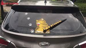 Super Fun Cat Decal Windshield Wiper Sticker Youtube
