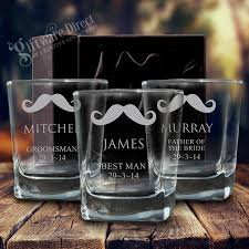 engraved whiskey wedding glasses