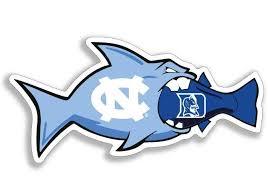 Unc Unc Rivalry Fish Duke 3 Decal Alumni Hall