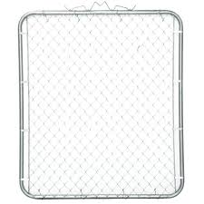 Yardgard 48 In W X 48 In H Galvanized Steel Bent Frame Walk Through Chain Link Fence Gate 328332a The Home Depot In 2020 Chain Link Fence Gate Chain Link Fence Galvanized Steel