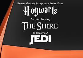 Funny Harry Potter Star Wars The Hobbit Vinyl Decal Sticker Epic Modz