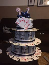 him fun 21st birthday beer cake idea