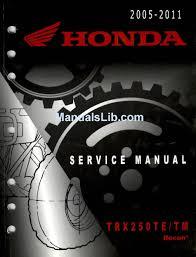 honda trx250te service manual pdf