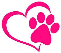 Amazon Com Hungmieh Pet Dog Paw Puppy Print Love Heart Vinyl Decal Stickers For Cars Trucks Windows Walls Laptops 5 9x5 2 Pink Automotive