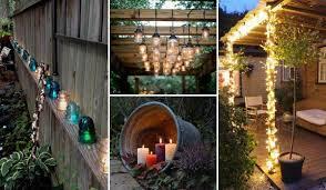 backyard lighting diy outdoor lighting