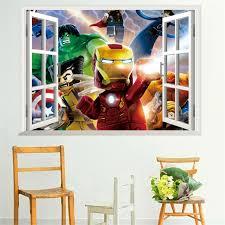 The Flash 3d Window View Decal Wall Sticker Art Home Decor Mural Marvel Huge