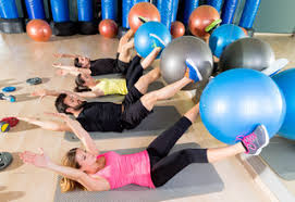 fitball crunch group core