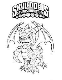 Kleurplaat Skylanders Spyros Adventure 3