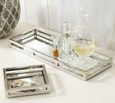 brynn silver mirrored trays