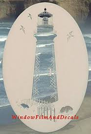 Lighthouse Oval Etched Window Decal Viny Buy Online In Israel At Desertcart