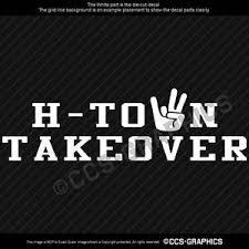 H Town Takeover Decal Uh Houston Cougars Football Car Window Sticker Ncaa 3 Size Ebay