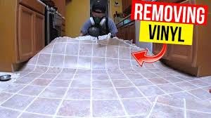 remove vinyl or linoleum flooring
