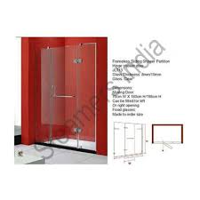 shower enclosure wall to wall shower
