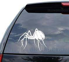 Amazon Com Deadly Black Widow Spider Decal Sticker Car Truck Motorcycle Window Ipad Laptop Wall Decor Size 18 Inch 46 Cm Wide Color Matte Black Home Kitchen