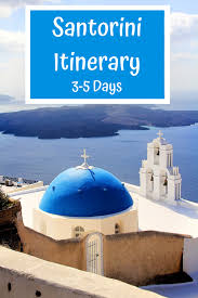 a santorini itinerary for first timers
